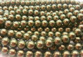 6mm SWAROVSKI® ELEMENTS Iridescent Green Crystal Pearl Beads - 50 pearls for jewellery making, beadwork and craft